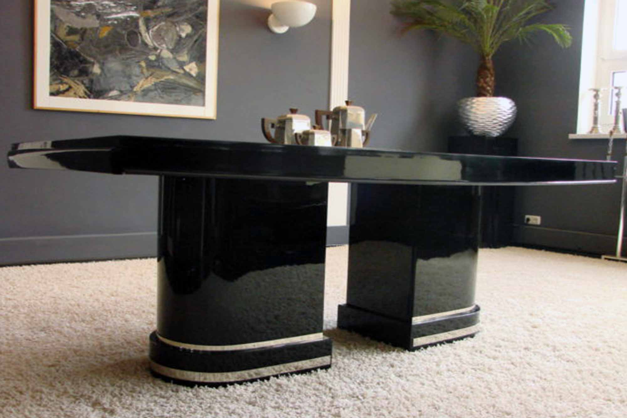 art deco tisch artdeco depot. Black Bedroom Furniture Sets. Home Design Ideas