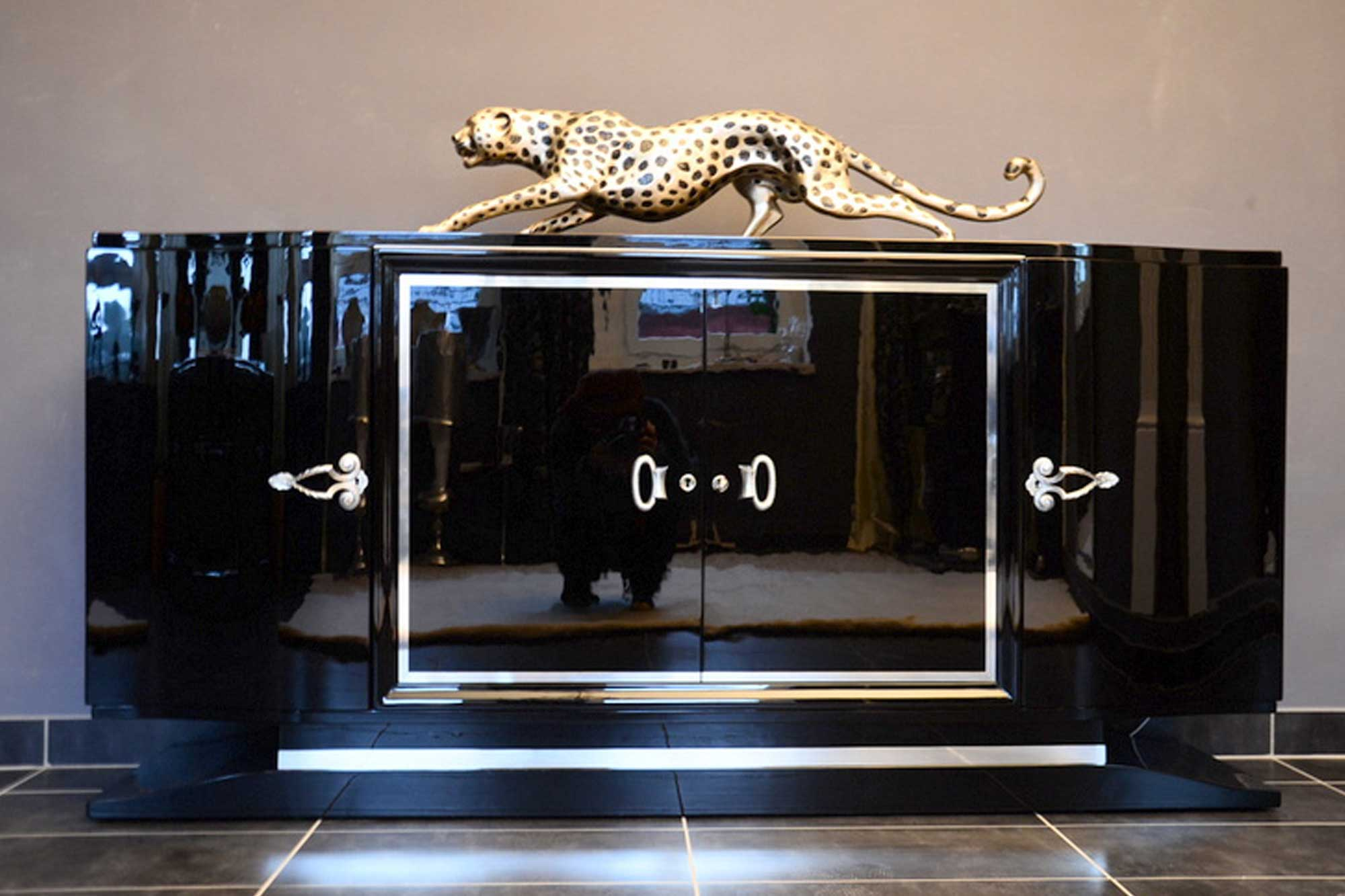 art deco sideboard panthers woods. Black Bedroom Furniture Sets. Home Design Ideas