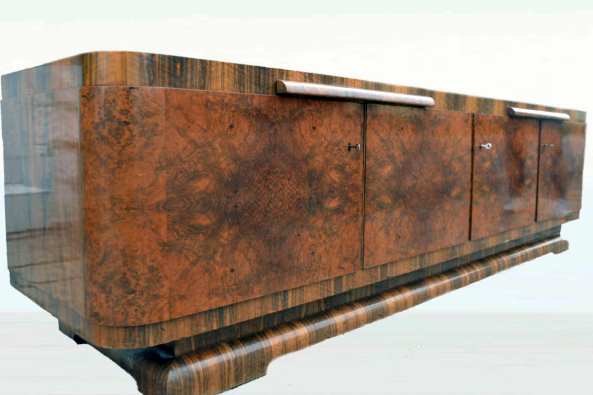 Art Deco Sideboard Nussbaum B260xh73xt64 Panthers Woods