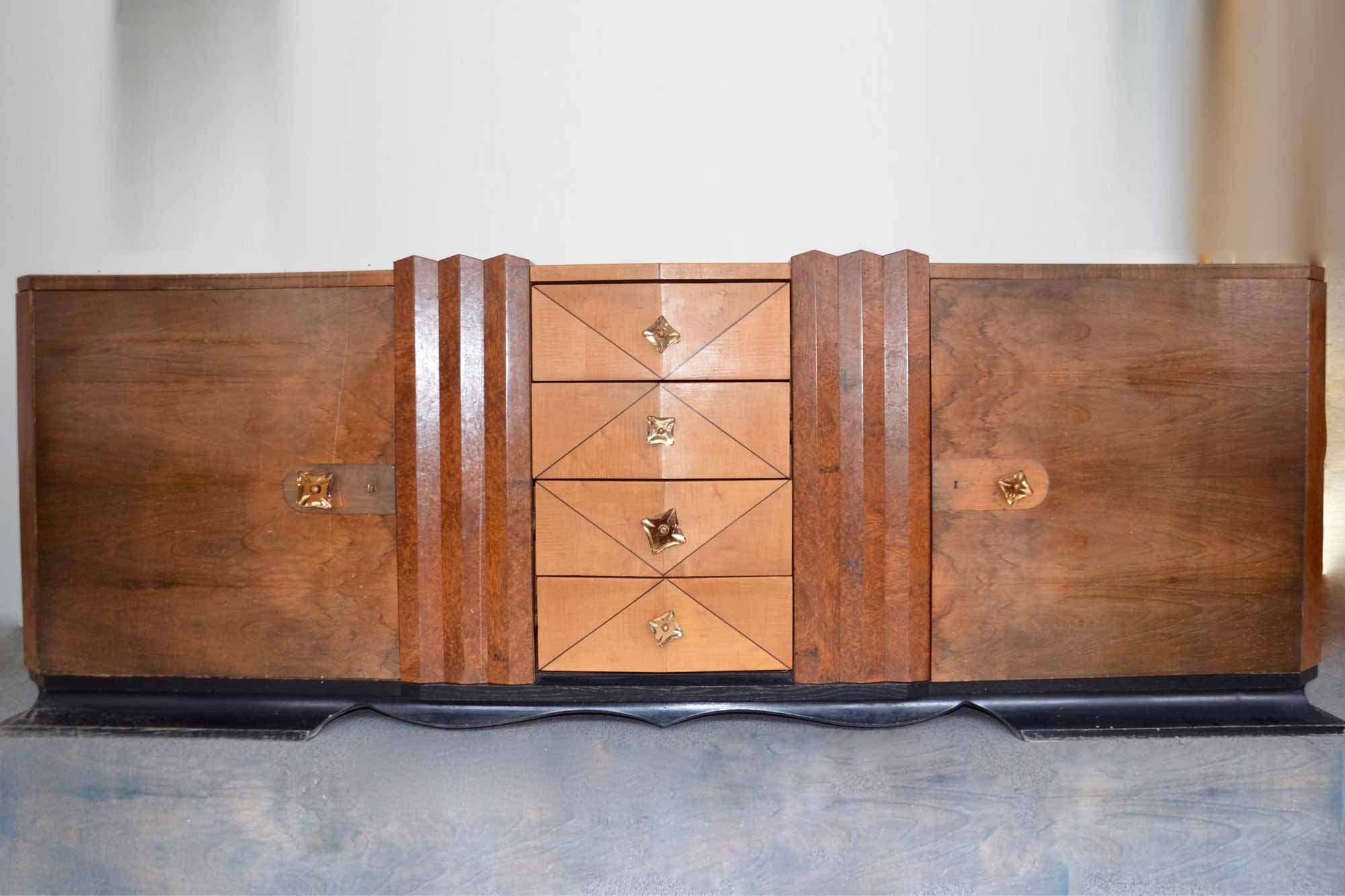 art deco sideboard nussbaum b300xh105xt57 panthers woods. Black Bedroom Furniture Sets. Home Design Ideas