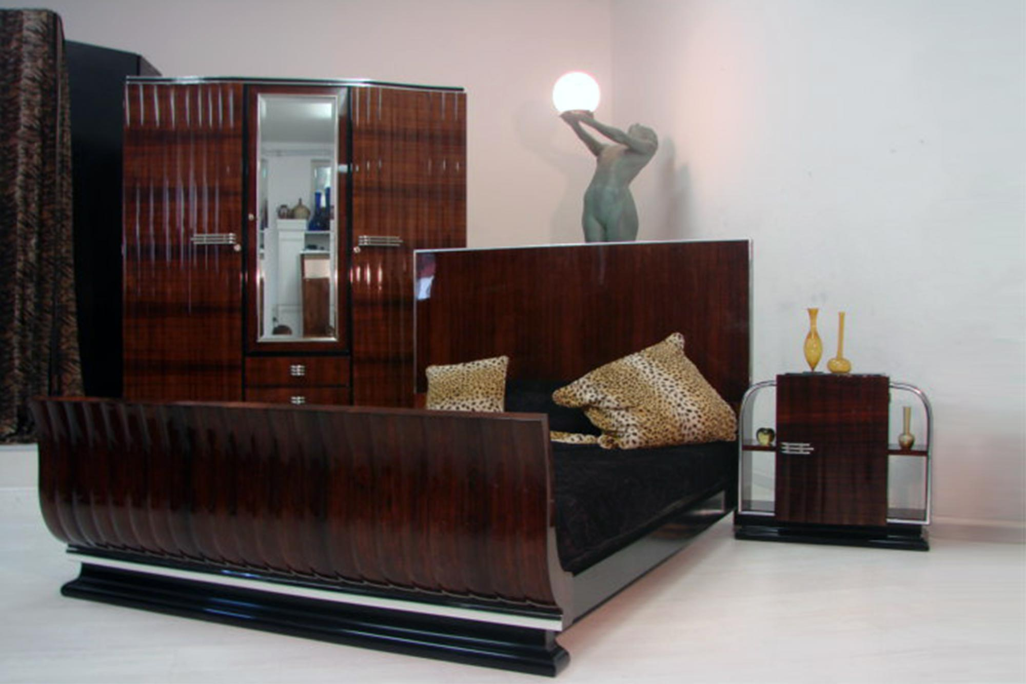 art deco schlafzimmer artdeco depot. Black Bedroom Furniture Sets. Home Design Ideas
