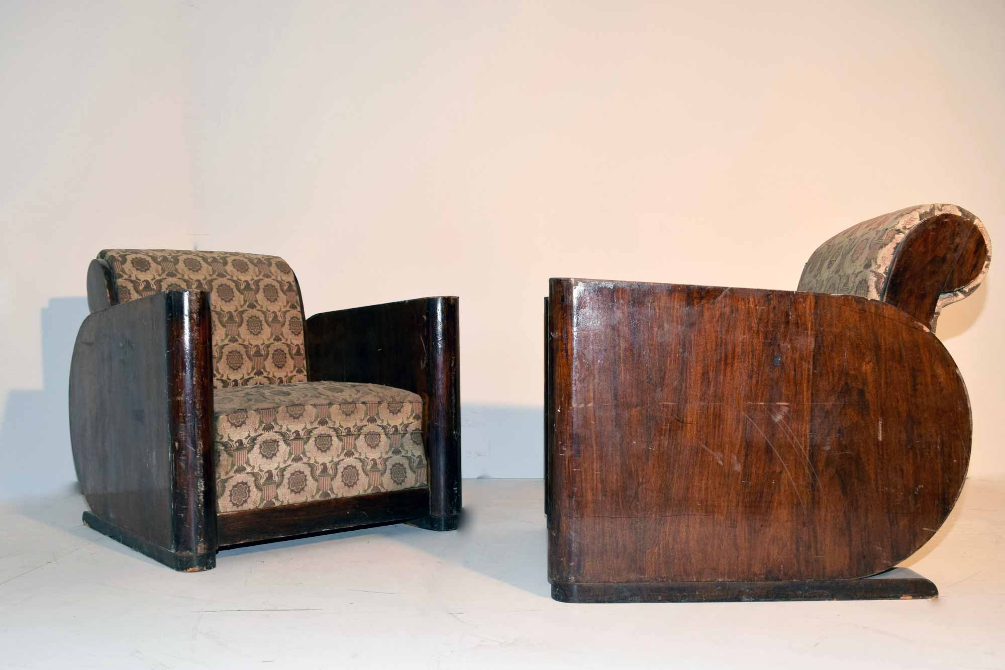 art deco sessel paar palisander b100xh80xt100 panthers woods. Black Bedroom Furniture Sets. Home Design Ideas