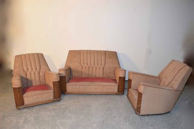 Art Deco Couch mit 2 Sessel